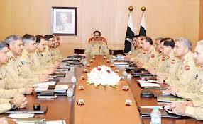 آرمی چیف کی سربراہی میں کورہیڈکوارٹرز میں خصوصی اجلاس