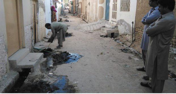 سبی:شہر کے مختلف علاقوں میں جگہ جگہ گندگی کے ڈھیر