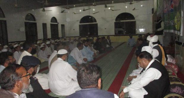 دیپالپور:جامعہ مسجد ریاض الجنۃ میں امن کمیٹی ضلع اوکاڑہ ودیگر مکتبہ ہائے فکر ومسالک کے اکابرین کا اجلاس