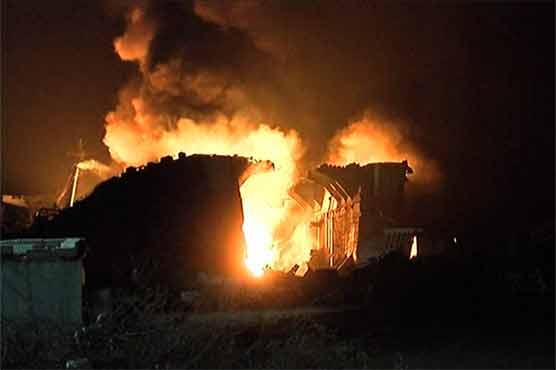 گڈانی شپ یارڈ پر لگنے والی آگ سے 17 افراد جاں بحق' 66زخمی