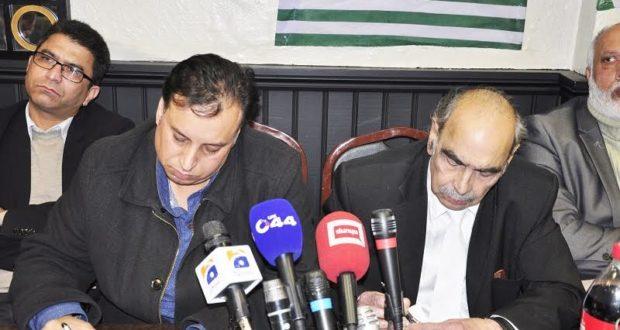کل جماعتی بین الاقوامی کشمیر رابطہ کمیٹی کیطرف سے پاکستان پریس کلب مڈلینڈزکے اعزاز میں پرتکلف عشائیہ