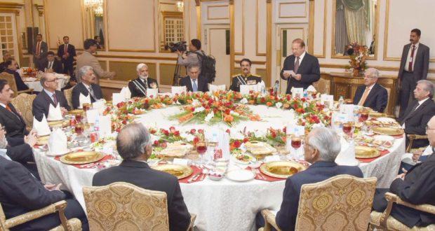 وزیراعظم کی جانب سے آرمی چیف کے اعزاز میں الوداعی عشائیہ