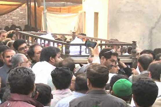 جہانگیر بدر کو لاہور میں سپردخاک کر دیا گیا ہے
