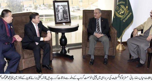 ٹیکسلا:سی پیک منصوبہ پاکستان اور چین کے لوگوں کے باہمی مفاد کا ایک معاشی منصوبہ ہے،چئیرمین سینٹ