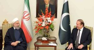 ایرانی صدر کی وزیر اعظم نواز شریف سے ملاقات